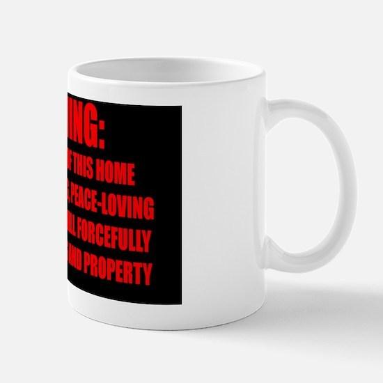 WARNING - Red Impact text for Rect. Sti Mug
