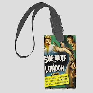 shewolflondon300dpi BIG Large Luggage Tag