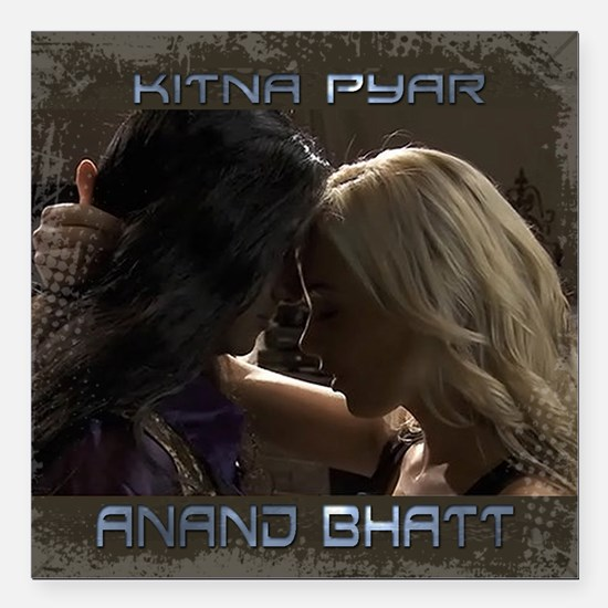 "Anand Bhatt Kitna Pyar Square Car Magnet 3"" x 3"""