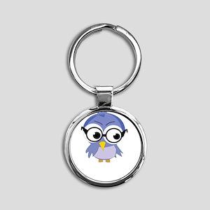 nerdybirdy2 Round Keychain