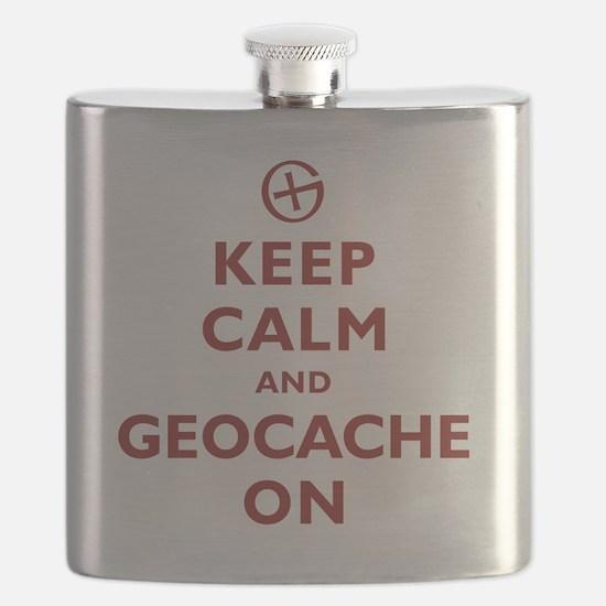Keep Calm and Geocache On Flask