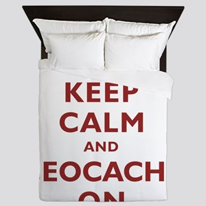 Keep Calm and Geocache On Queen Duvet