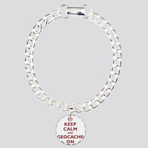 Keep Calm and Geocache O Charm Bracelet, One Charm