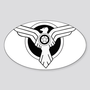 Captain America SSR_A Sticker (Oval)