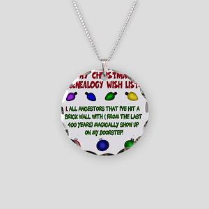 MYCHRISTMASgenwishlist2d Necklace Circle Charm