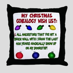 MYCHRISTMASgenwishlist2d Throw Pillow