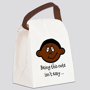 BeingThisCuteIsntEasy_AfAm Canvas Lunch Bag