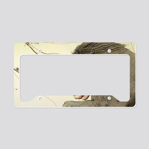 14x6_smallFramedPrint_taurus License Plate Holder