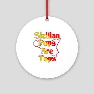 Sicilian Pops Are Tops Ornament (Round)