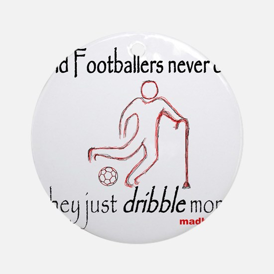Old Footballers Dribble 1500 Round Ornament