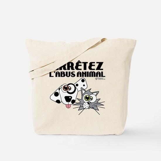 stop-animal-abuse-fr-01 Tote Bag