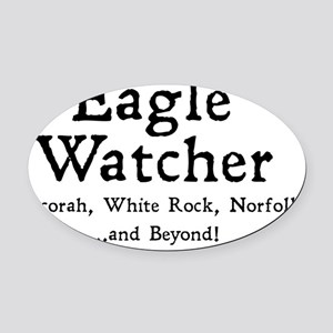 eaglewatcher4 Oval Car Magnet