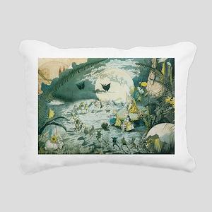 fairy dance laptop skin Rectangular Canvas Pillow