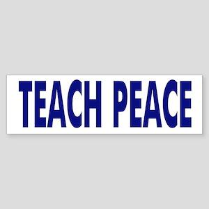 TEACH PEACE - bumper sticker - blue