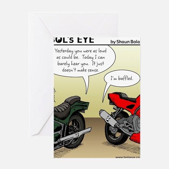 w_website 155 Baffled Bikes_CLR Greeting Card