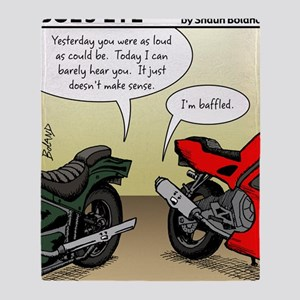 w_website 155 Baffled Bikes_CLR Throw Blanket