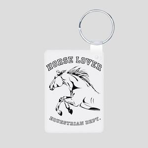 horselover Aluminum Photo Keychain