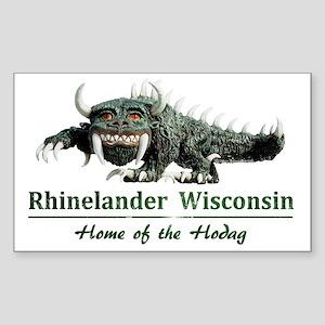 Hodag_Rhinelander Sticker (Rectangle)