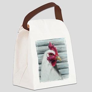 Leghorn chickens Canvas Lunch Bag