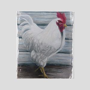 Leghorn chickens Throw Blanket