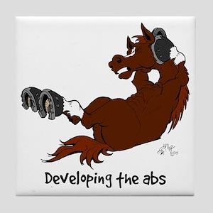 Horse Sit Ups Tile Coaster