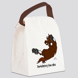Horse Sit Ups Canvas Lunch Bag