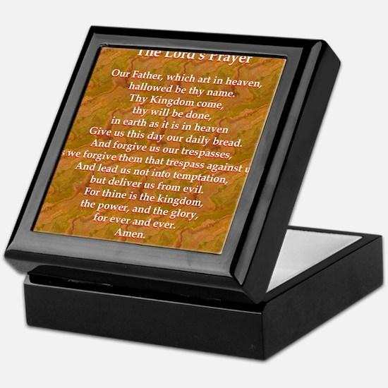 Lords Prayer_red on white Keepsake Box