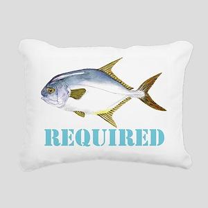 Permit Required Rectangular Canvas Pillow