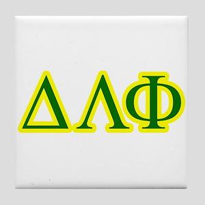 Pledge Letters/Colors Tile Coaster