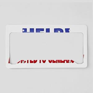 HELPmywifeaddictedFINAL License Plate Holder