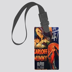 Mummy_1932 pd no copyright poste Large Luggage Tag