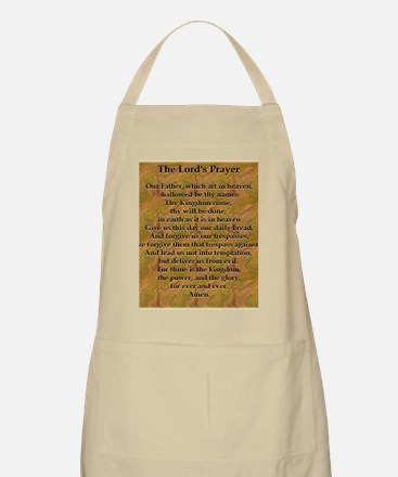 Lords Prayer_white on black Apron