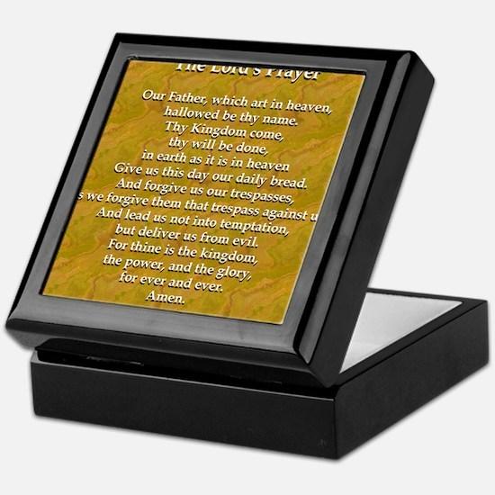 Lords Prayer_black on white Keepsake Box