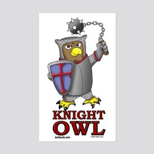 Knight Owl Rectangle Sticker