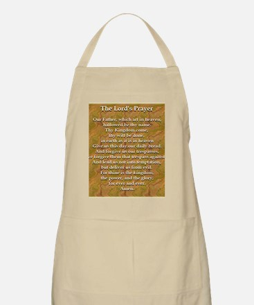 Lords Prayer_white on white Apron
