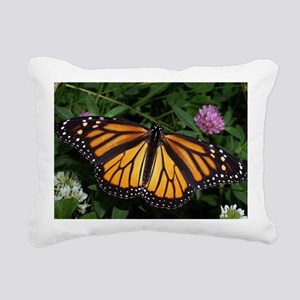 Monarch Butterfly Rectangular Canvas Pillow
