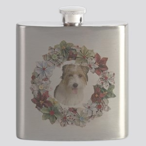 CHRISTMAS WREATH WITH JACK RUSSELL Flask