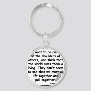 Ford Together Quote Round Keychain