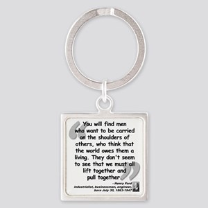 Ford Together Quote Square Keychain
