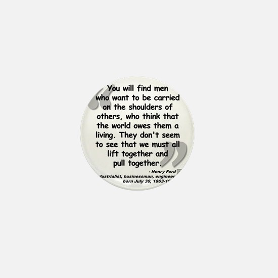 Ford Together Quote Mini Button