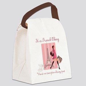 French Thing dark Canvas Lunch Bag