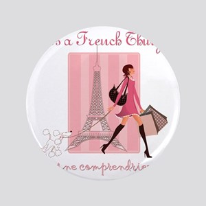 "French Thing dark 3.5"" Button"