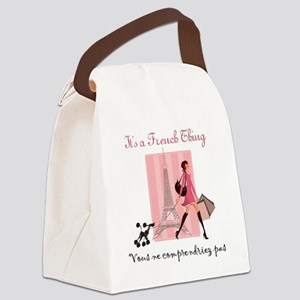 French Thing light Canvas Lunch Bag