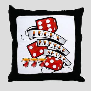 Lucky Number Seven / Throw Pillow