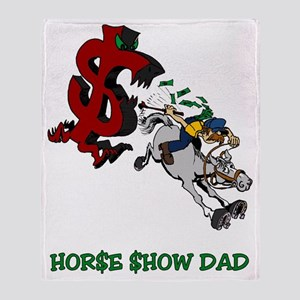 Horse Show Dad Throw Blanket