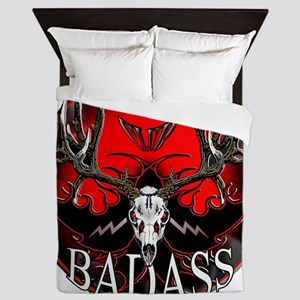 badass buck Queen Duvet