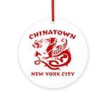 Chinatown New York City Ornament (Round)