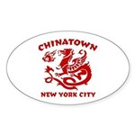 Chinatown New York City Oval Sticker