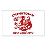 Chinatown New York City Rectangle Sticker