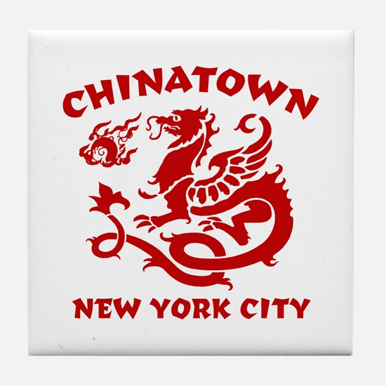 Chinatown New York City Tile Coaster